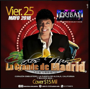 Carlos Nuño @ Dubai Nightclub | Perú