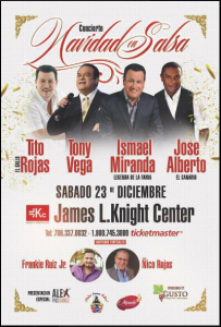 Ismael Miranda Y Amigos @ James L. Knight Center