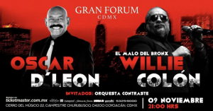 Willie Colon Y Oscar De Leon @ Gran Forum CDMX
