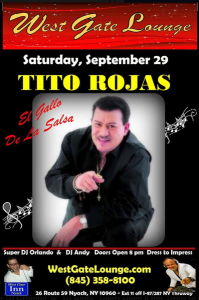Tito Rojas @ West Gate Lounge