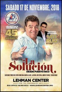 Orquesta La Solucion Y Viti Ruiz @ Lehman Center
