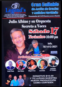 Julio Albino Y Su Orquesta Secreto A Voces @ Legend's Bar & Club