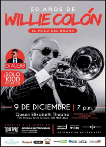 Willie Colón @ The Queen Elizabeth Theatre
